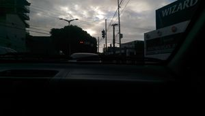Dark-through-city shot