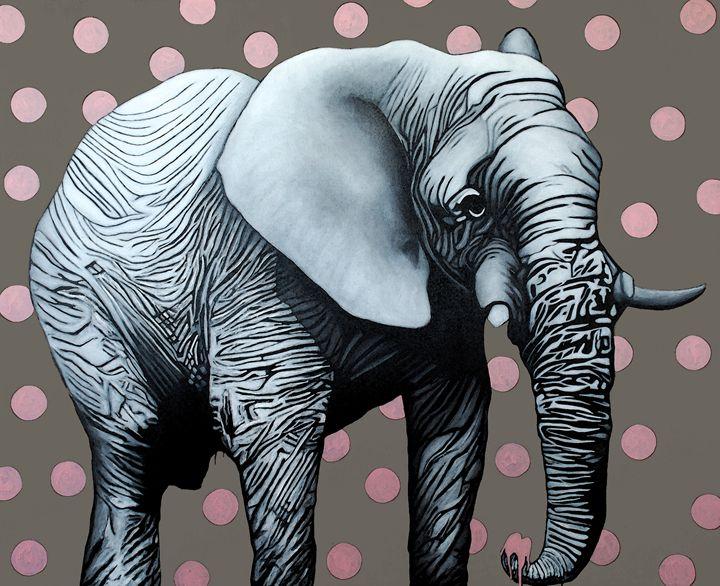 White Elephant Painting - JOHANNES