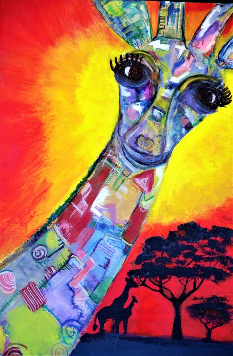 Colors of The Wild -Giraffe BPell - Bethany Pell (Art By B)