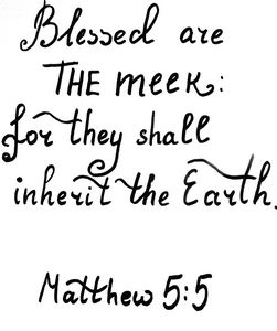 Bible verse about the meek