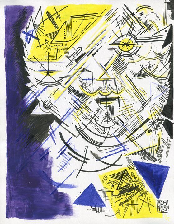Mask Series Original Artork - Ricardo Cluet Artworks
