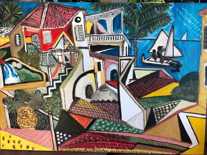 Mediterranean landscape - Lavinia Tofan Art