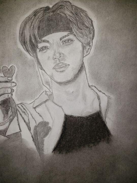 BTS' Tae - Tom Bathrick Art & Sketch