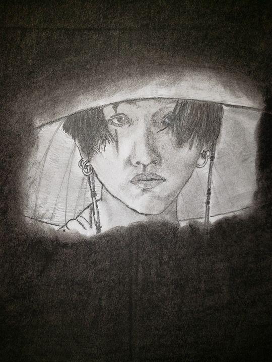 BTS' Suga (Agust D) - Tom Bathrick Art & Sketch