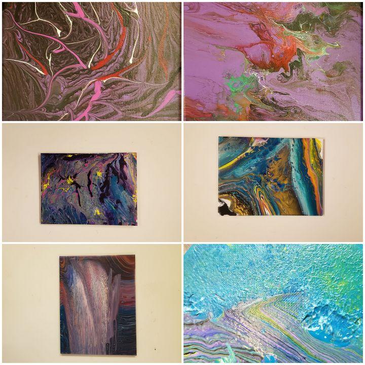 "SIX 8"" x 10"" original fluid Art! - Tom Bathrick Art & Sketch"