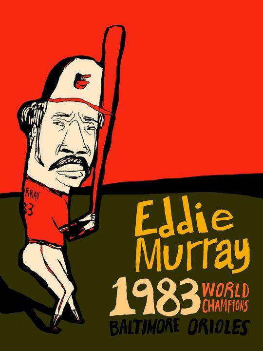 Eddie Murray Baltimore Orioles 1983 - Baseball Art