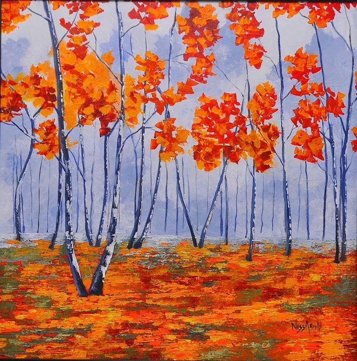 birch trees - nissa riyas the artist