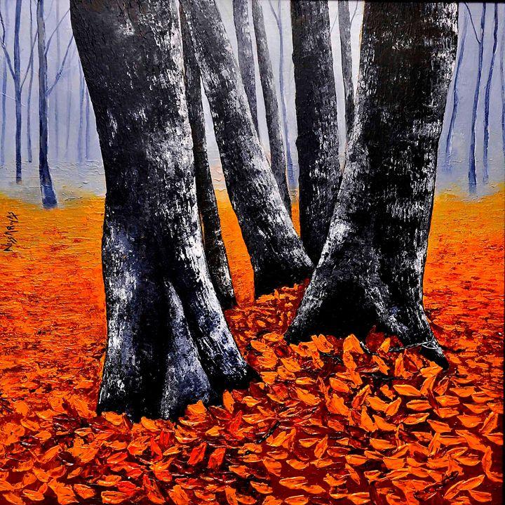 pair of trees - nissa riyas the artist