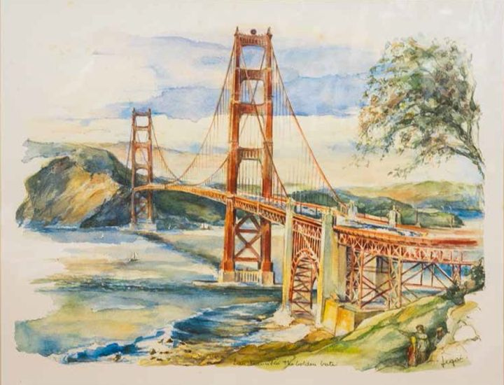 Golden Gate Bridge - William H Areson Jr Private Art Collection