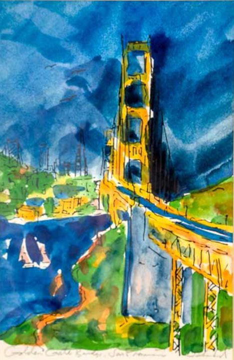 Golden Gate Bridge - William H Areson Jr Private Art Collection