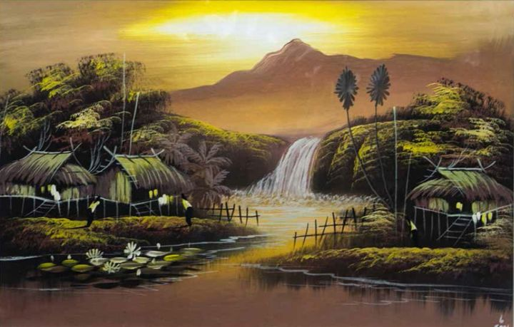 Thailand Landscape - William H Areson Jr Private Art Collection