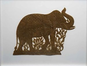 Cut out in elephant skin - William H Areson Jr Private Art Collection
