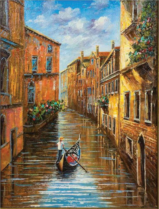 Venice - Gondole - William H Areson Jr Private Art Collection