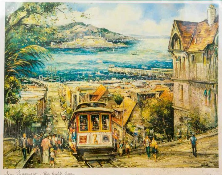 Hyde Street The Cable Car - William H Areson Jr Private Art Collection