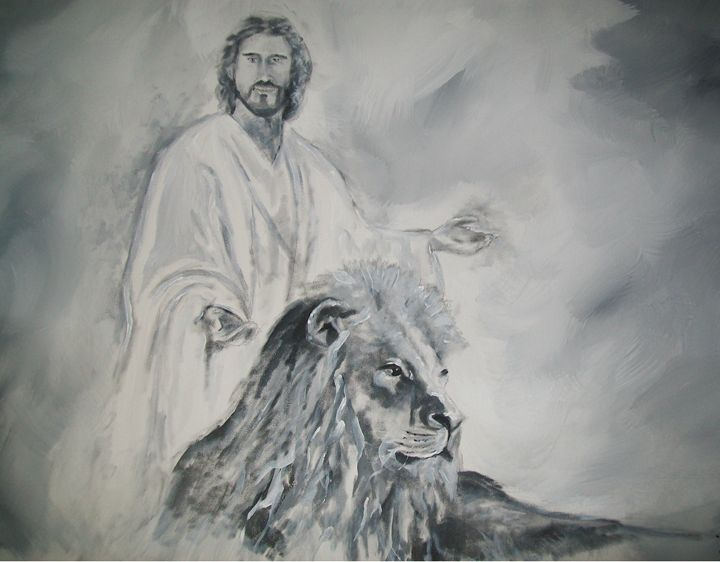 The Lion and Christ the Lamb - Raymond Doward