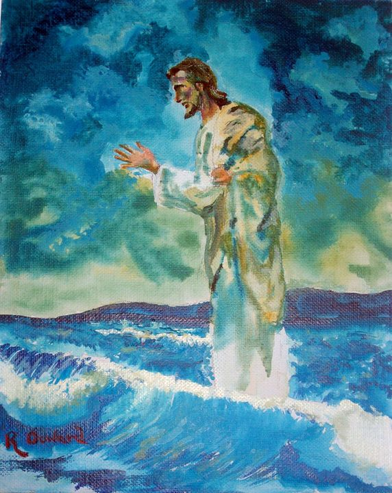 Christ Walking on the Water 2 - Raymond Doward
