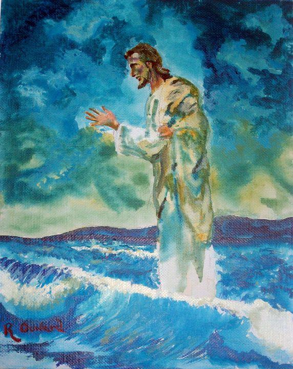 Christ Walking on the Water 2 - Raymond Doward