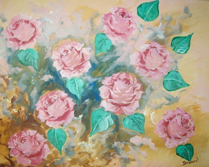 Pink Roses 3 - Raymond Doward