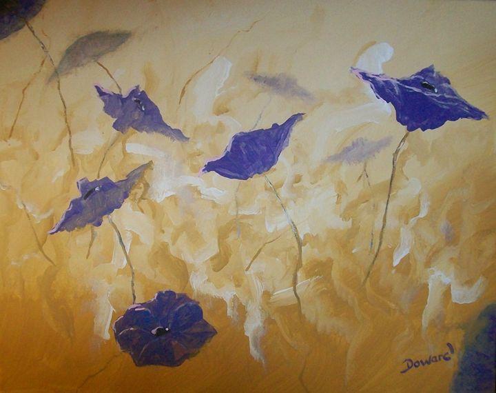 Poppies Abstract - Raymond Doward