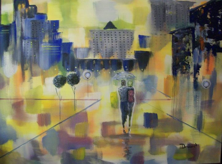 Abstract Love Walk - Raymond Doward