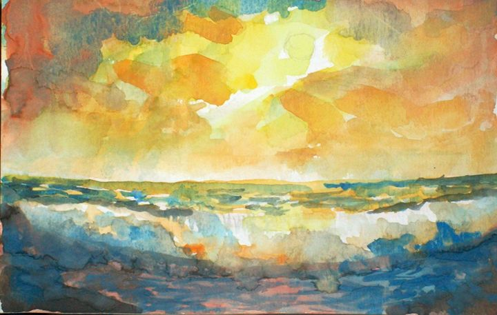 WAVE AT SUNSET - Raymond Doward
