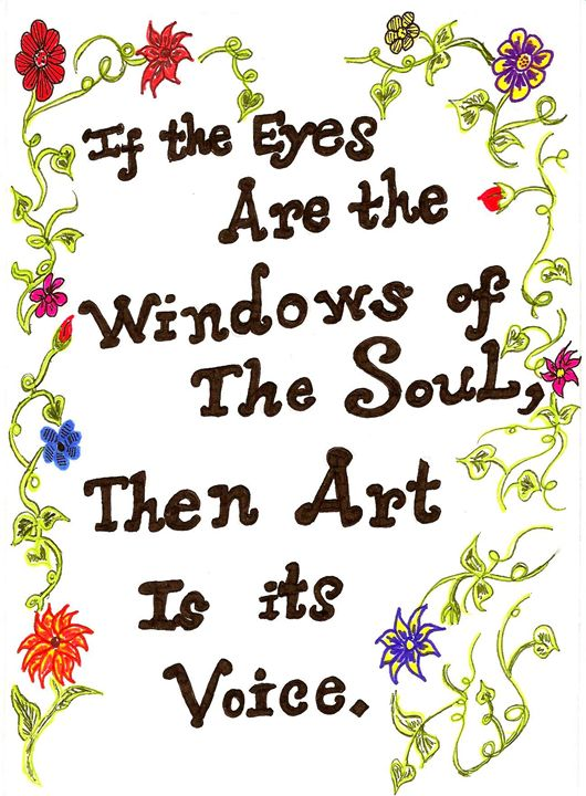 The Voice of Art Affirmation - Earthworks Art Designs and Photography