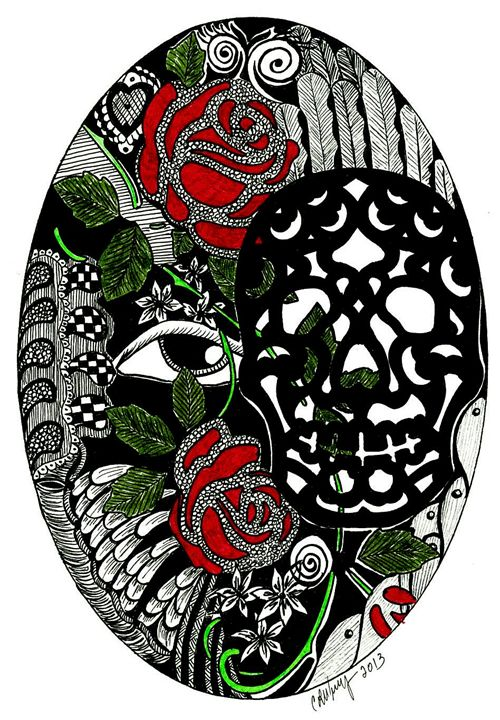 Day of the Dead with Roses - Earthworks Art Designs and Photography