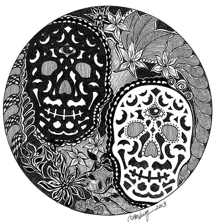 Day of the Dead Awareness Juxtaposed - Earthworks Art Designs and Photography