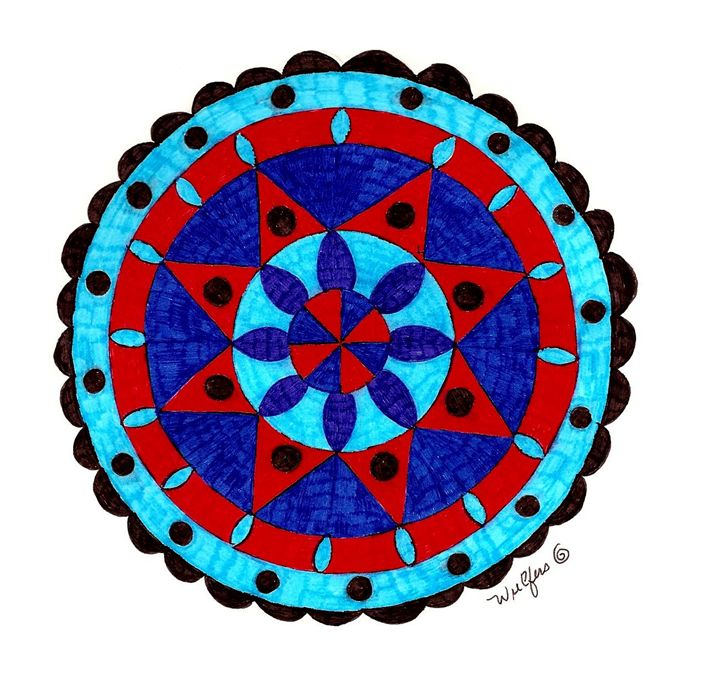 Mandala in Blue - Earthworks Art Designs and Photography
