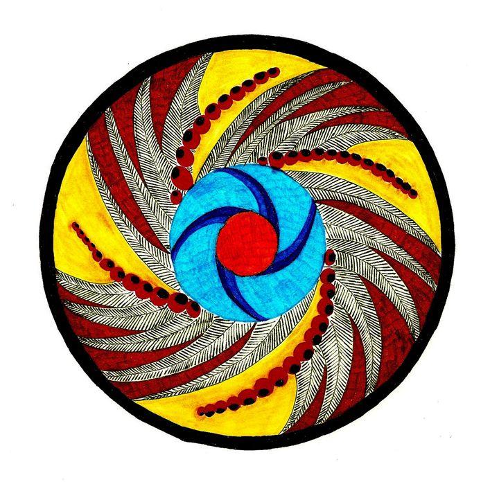 Autumn Berries Mandala - Earthworks Art Designs and Photography