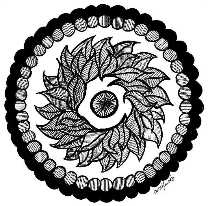 Leaf Mandala - Earthworks Art Designs and Photography