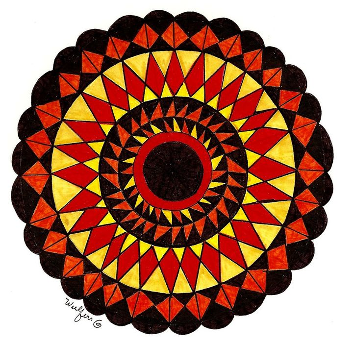 Sunburst Mandala - Earthworks Art Designs and Photography