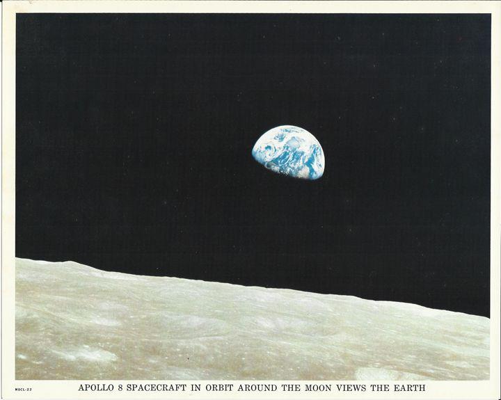 Apollo 8 Spacecraft in Orbit Moon - Disabled Veterans Store