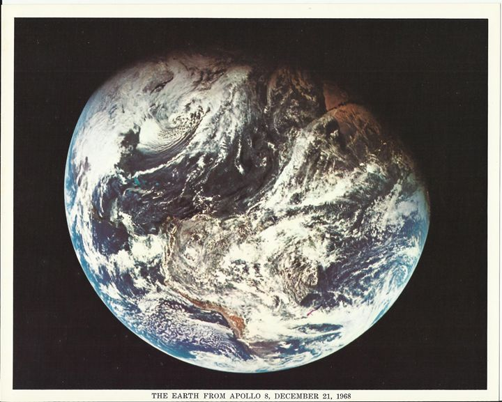 Earth from Apollo 8, December 1968 - Disabled Veterans Store