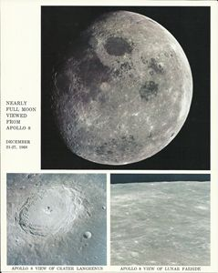 Nearly Full Moon Viewed From Apollo8