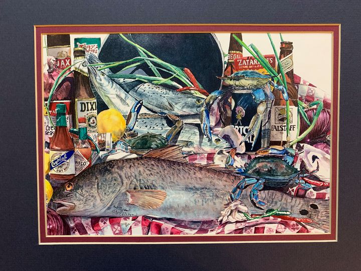 Fish and Beers From New Orleans - Clements Art Resale