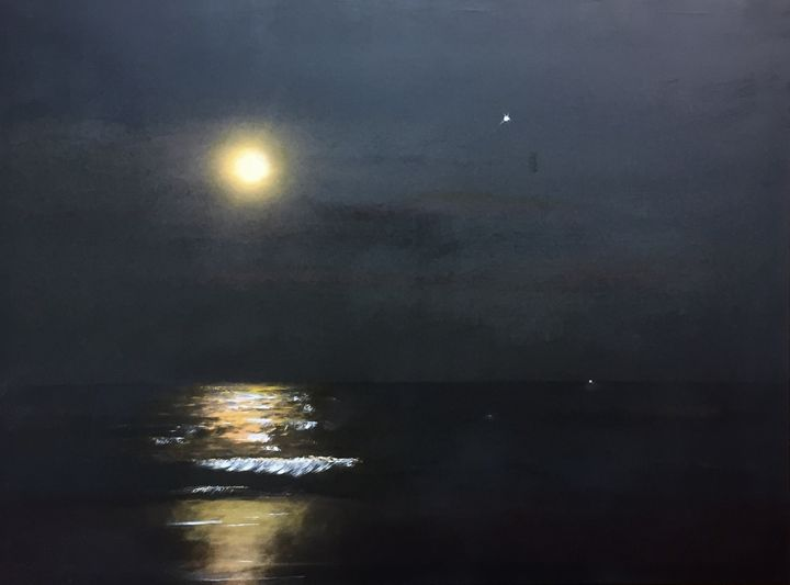 Emerald Isle moonlight sea - Jerry's Art Garage