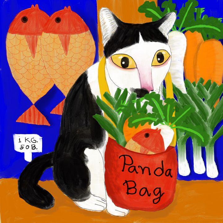 Cat shopping - Tip Art