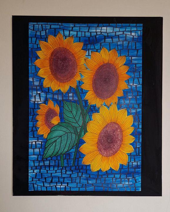 Sunflower art painting - Tip Art