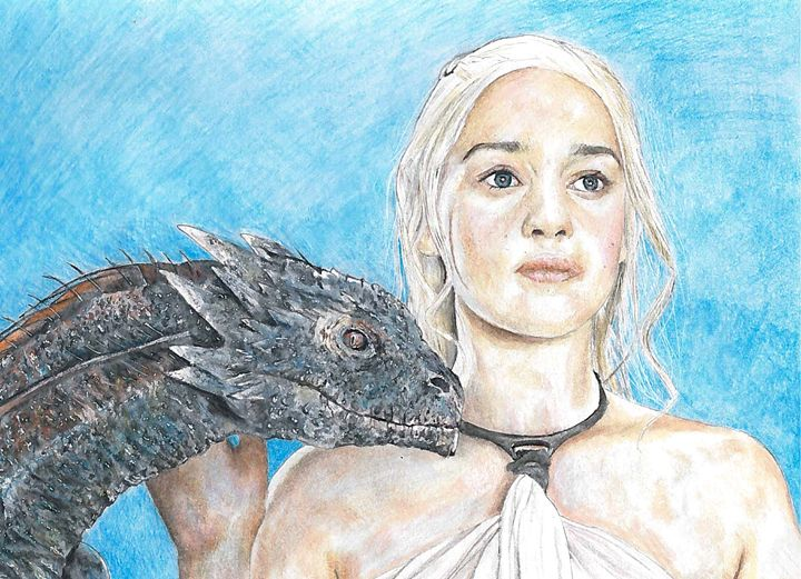 Daenerys and Drogon - Murray Lewis - Artist