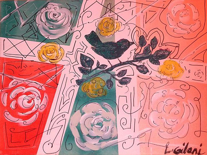 Budding rose bird - Originals Only