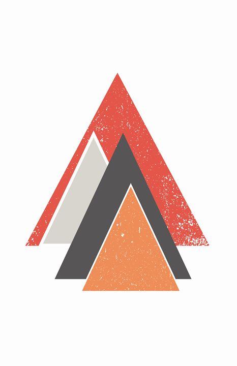 Orange Mountain Print - Hello Art