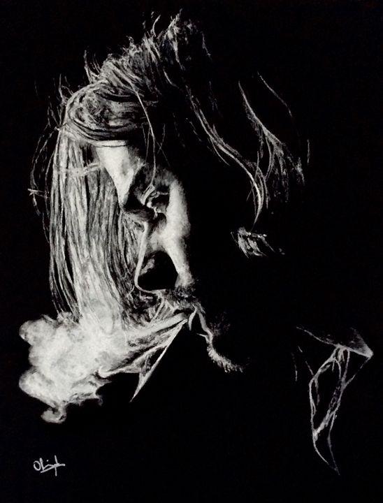 Kurt Cobain smoking - Olivier Pringal