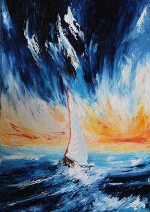 Sail through the wave 50x70cm