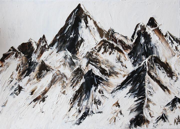 Mountains 70x50 cm - Anastasiia Novitskaya