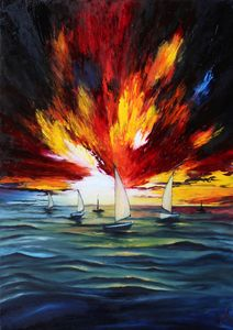 Sailboats, 50x70 cm