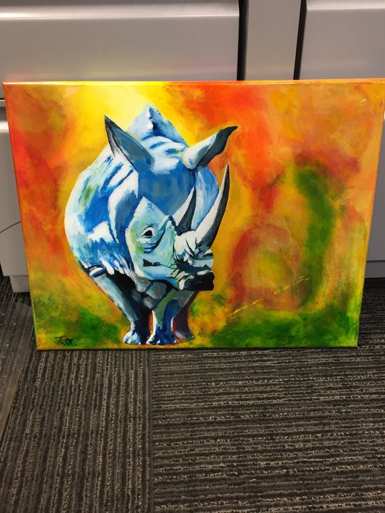 Blue Rhino - Art by Tate