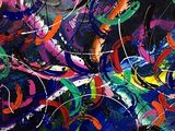 Carnivale  painting on canvas
