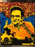 Johnny Cash with palette knife