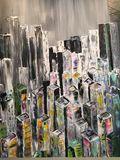 palette knife of a city scene